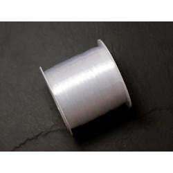 Bobine 125 mètres - Fil Nylon Blanc Transparent 0.2mm - 8741140010277