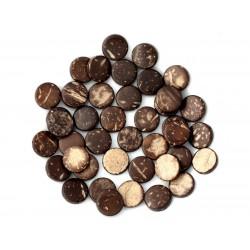 20pc - Perles Bois de Coco Palets 10-11mm Marron - 4558550001184