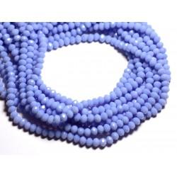 Fil 39cm 90pc env - Perles Verre opaque - Rondelles Facettées 6x4.5mm Bleu Mauve Lavande Pastel - 4558550084927