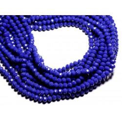 Fil 39cm 90pc env - Perles Verre opaque - Rondelles Facettées 6x4.5mm Bleu Nuit - 4558550084934