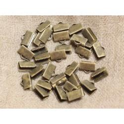 100 pc - Embouts Métal Bronze sans nickel 10x5mm 4558550012739