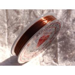 Bobine 10m - Fil Elastique 0.8-1mm Marron 4558550014818