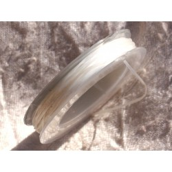 Bobina 10 metri - Filo in fibra elastica 0,8-1 mm Bianco Trasparente - 4558550015013
