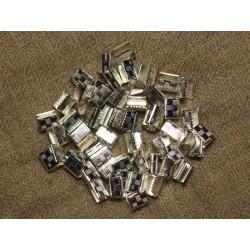 200pc - Embouts sans attache métal Argenté sans nickel 7x5.5mm 4558550021380