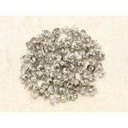 20pc - Embouts 1 Cache Noeuds Métal argenté Rhodium pour Chaîne bille ou Cordons 4558550000200