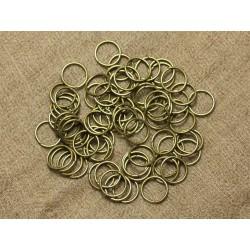 100pc - Anneaux 10mm Métal Bronze sans nickel 4558550025654