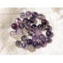 10pc - Perles de Pierre - Fluorite Rose Violette Boules 6mm 4558550036810