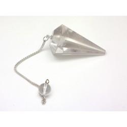 Bergkristal prisma slinger 25x30mm