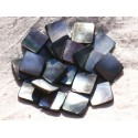 Natural Black Mother of Pearl Beads