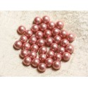 Iridescent tinted mother-of-pearl beads