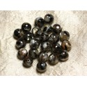 Mat Mother-of-Pearl and Resin Beads
