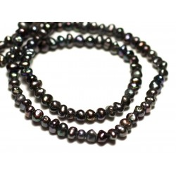 20pc - Freshwater Cultured Pearls Balls 2-3mm Iridescent Black - 8741140020917