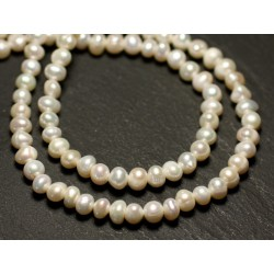 10pc - Freshwater Cultured Pearls Balls 4-5mm Iridescent White - 8741140020924