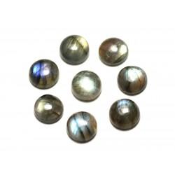 1pc - Cabochon de Pierre - Labradorite Rond 10mm - 8741140020023
