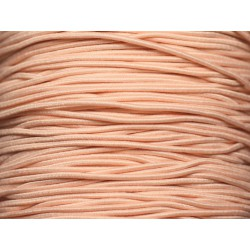 5 mètres - Fil Cordon Tissu Elastique 1mm Rose Saumon clair Pastel - 8741140018785
