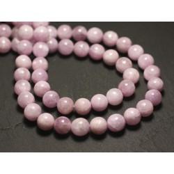 2pc - Perles de Pierre - Kunzite rose Boules 8mm - 8741140016637