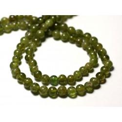 10pc - Perles de Pierre - Wassonite Boules 3-5mm - 8741140011564