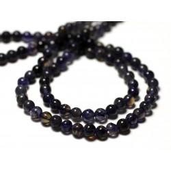 20pc - Perles de Pierre - Iolite Cordiérite Boules 4mm - 8741140011465