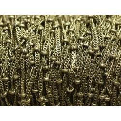Bobine 100 mètres - Chaîne Mailles et Perles Métal Bronze Qualité 1.8 - 2mm - 8741140010826