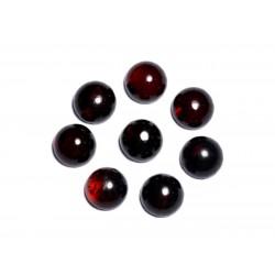 2pc - Cabochons Ambre rouge naturelle Ronds 6mm - 8741140003156