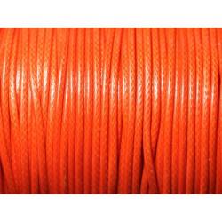 5 mètres - Cordon coton ciré enduit qualité 2mm Orange - 8741140010321