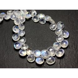 8741140011526 Perles de Pierre Pierre de Lune multicolore Boules 5mm 20pc