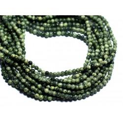 40pc - Perles de Pierre - Serpentine Boules 2mm - 8741140008007