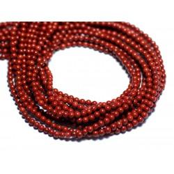 10pc Jaspe Rouge Boules Facettées 6mm   4558550003614 Perles de Pierre