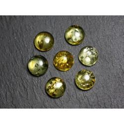 2pc - Cabochons Ambre naturelle Ronds 6mm - 8741140003132