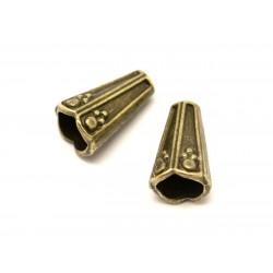 10pc - Apprêts Cônes coupelles Métal bronze ethnique 13x8mm - 8741140001794