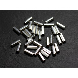 10pc - Perles Argent massif 925 Tubes Facettés 7mm - 4558550086563