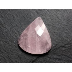 Cabochon Pierre - Quartz Rose Facetté Goutte 29x24mm N8 - 4558550086297