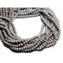 Fil 39cm 90pc env - Perles Verre opaque - Rondelles Facettées 6x4.5mm Gris clair - 4558550084873