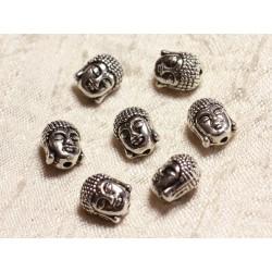 4pc - Perles Métal Argenté Rhodium Bouddha 11mm 4558550003546