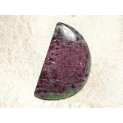 Cabochon de Pierre - Rubis Zoïsite Demi Lune 48x28mm N43 - 4558550081537