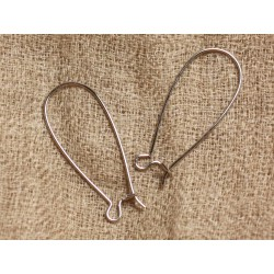 20pc - Crochets Boucles d'Oreilles Métal argenté qualité 33mm 4558550024299