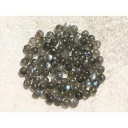 Fil 39cm 50pc env Labradorite Boules 8mm Perles de Pierre