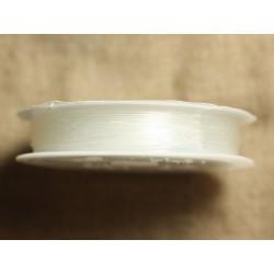 1 bobine 10 mètre - Fil Elastique 0.6mm Blanc Transparent - 4558550017208