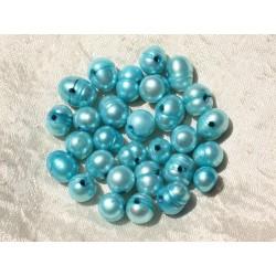 9pc - Perles de Culture eau douce 8-12mm Bleu Turquoise - 4558550020000