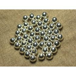 10pc - Perles Métal Argenté Boules 8mm 4558550023872