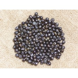 Perles de Culture 2 mm Noires - Sac de 20pc 4558550037077