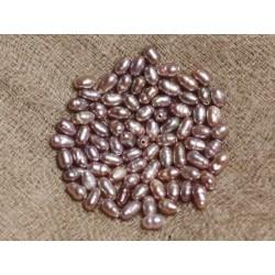 10pc - Perles de Culture Riz 2-3mm Vieux Rose 4558550037220