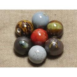 Lot au choix - Grosses Perles de Céramique 20 mm - Sac de 100pc 4558550037312