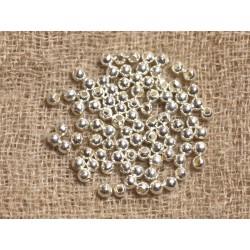 20pc - Perles Argent 925 Boules Rondes 2mm - 4558550037718