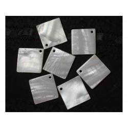2pc - Perles Breloques Nacre Losanges 25 mm 4558550037893