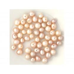 Perles de Culture - 6-8 mm - Roses - Sac de 10 pc 4558550038562