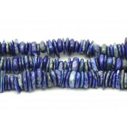 Fil 39cm 150pc env - Perles de Pierre - Lapis Lazuli Chips Palets Rondelles 8-14mm