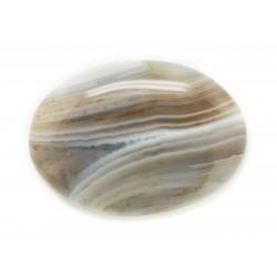 N5 - Cabochon de Pierre - Agate grise naturelle Ovale 34x24mm - 8741140005617