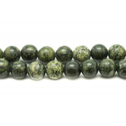 Fil 39cm 63pc env - Perles de Pierre - Serpentine Boules 6mm