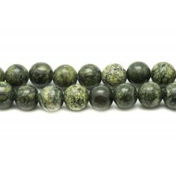 Fil 39cm 37pc env - Perles de Pierre - Serpentine Boules 10mm